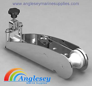 stainless steel boat bow roller with lock