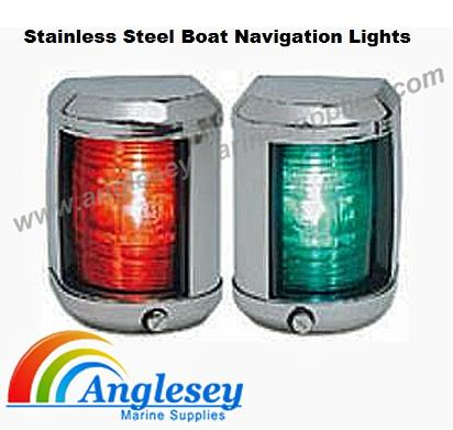 stainless steel boat navigation lights