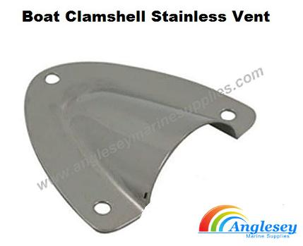Stainless Steel Clamshell Boat Vents