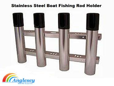 stainless steel four rod boat fishing rod holder