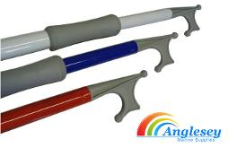 telescopic boat hook canal narrowboat black blue red grey