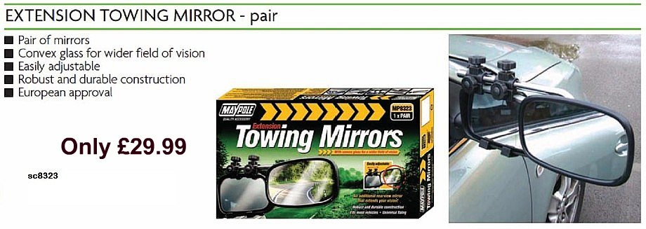 boat trailer caravan towing mirrors