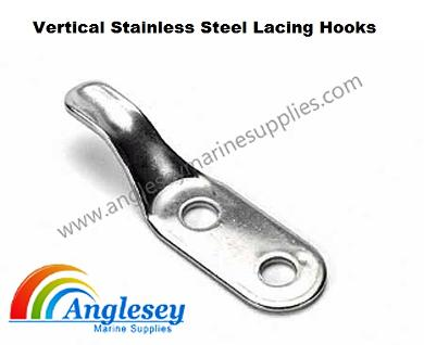 vertical stainless steel lacing hooks
