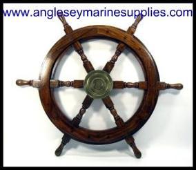 boat marine steering wheel wood wooden