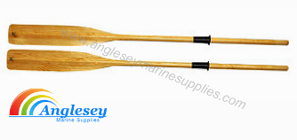 Jointed Wooden Rowing Boat Oars